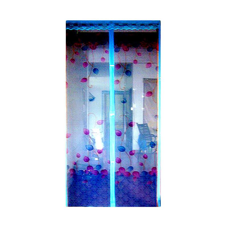 harga Lotusshops Daun Press Tirai Pintu Magnet - Biru Blibli.com