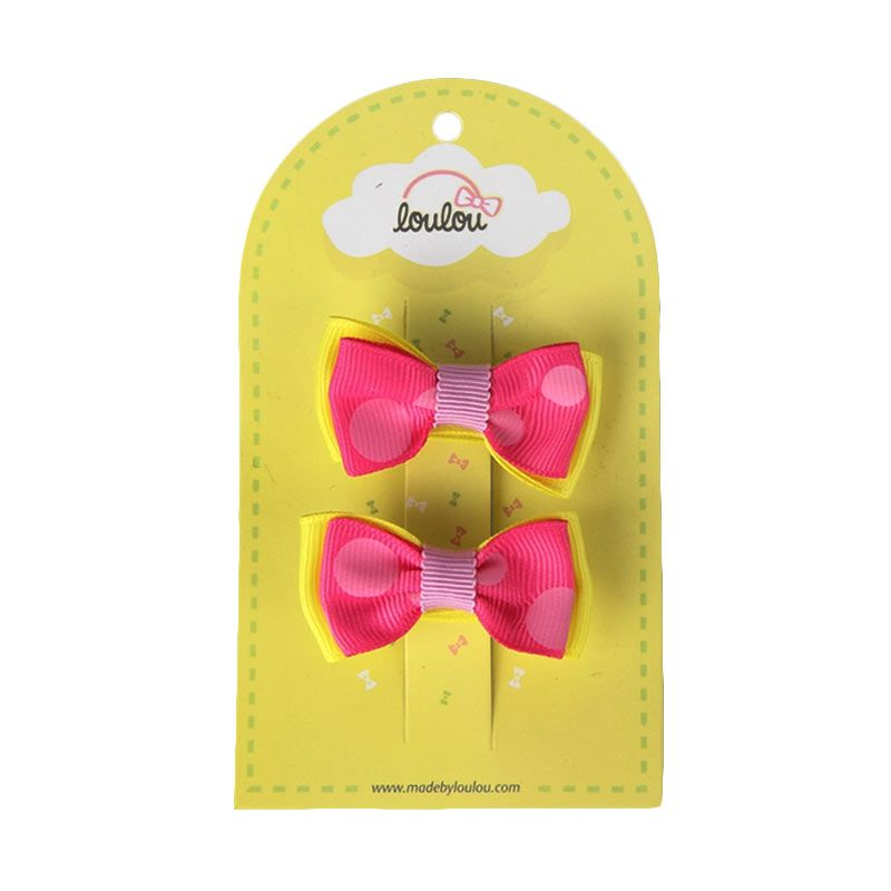 Loulou Clips JSD-3 Fuschia and Yellow