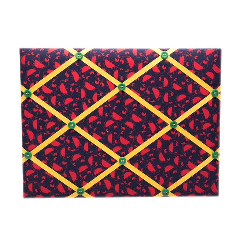 Loulou Medium Red Crab Pin Board