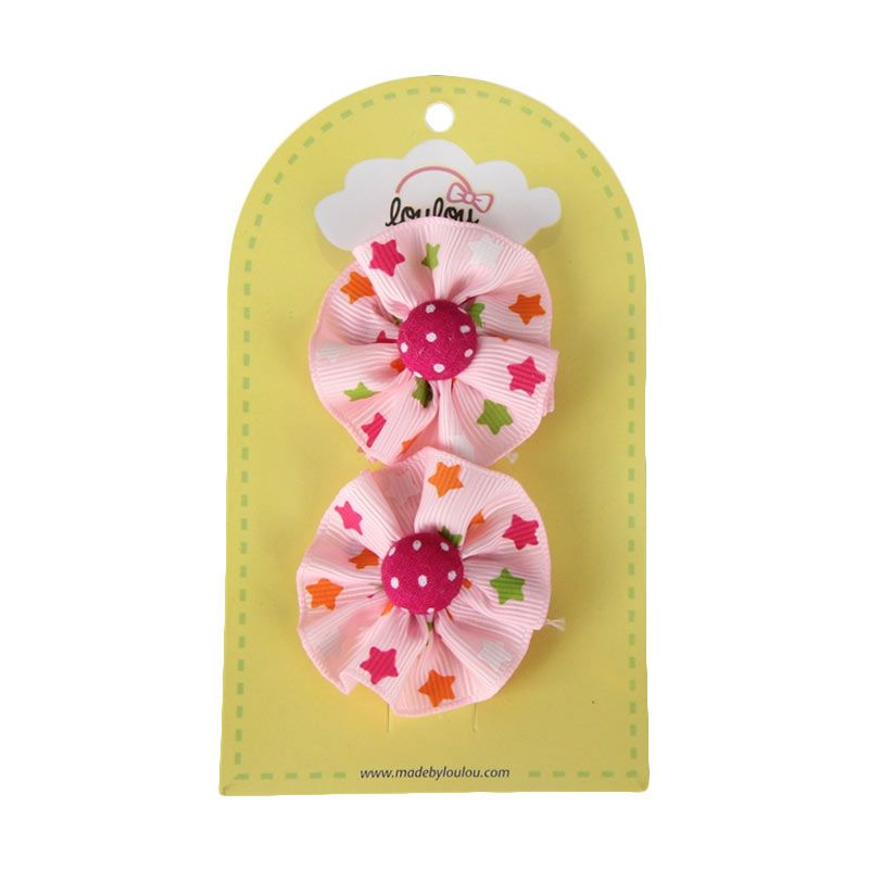 Loulou Clips PBP-2 Pink Stars