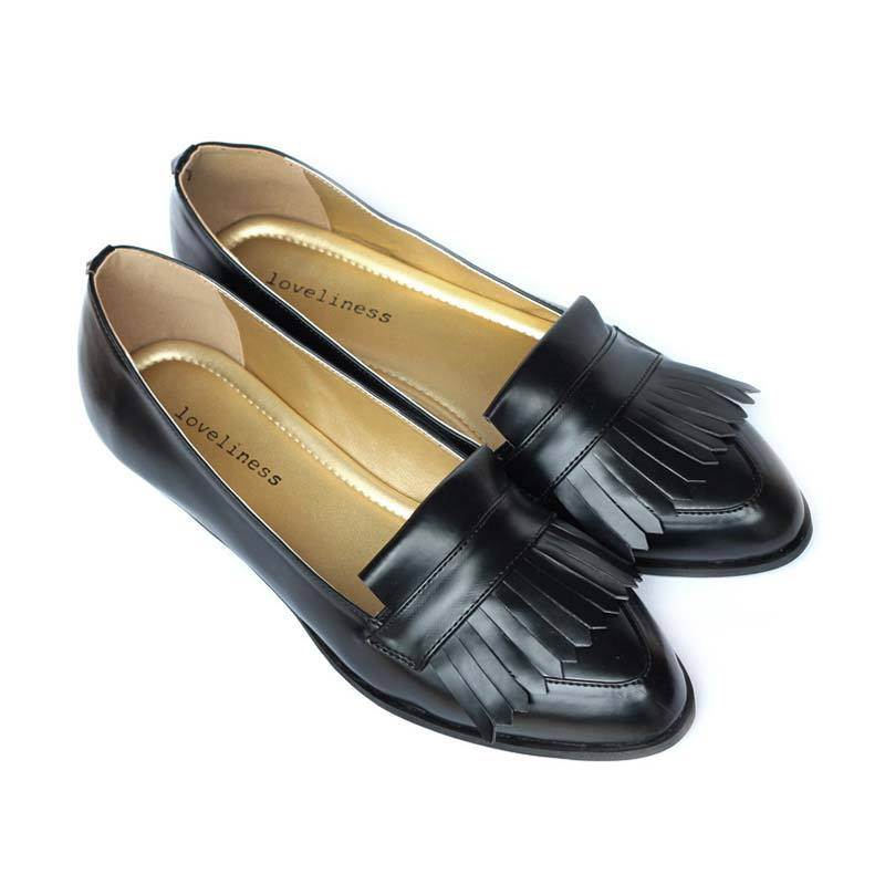 Loveliness Isaac Flat Shoes Black