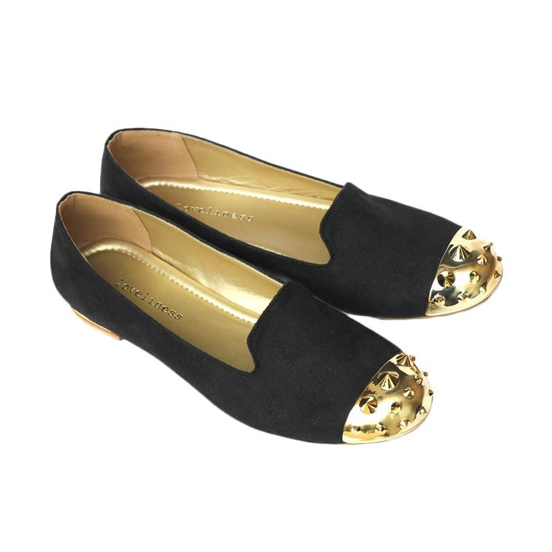 Loveliness Lucca Loafer Shoes Black