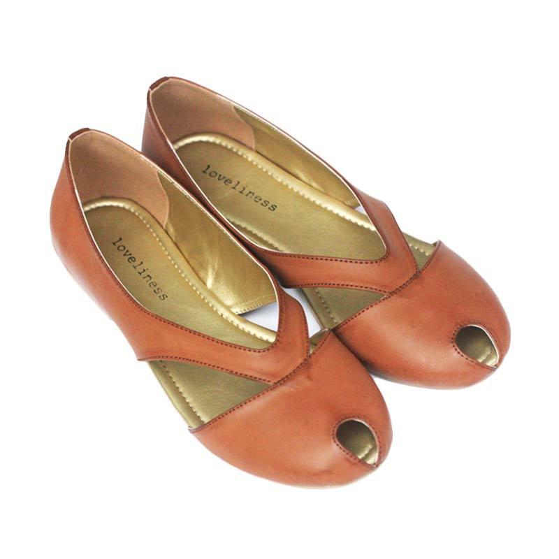 Loveliness Vesta Flat Shoes Camel