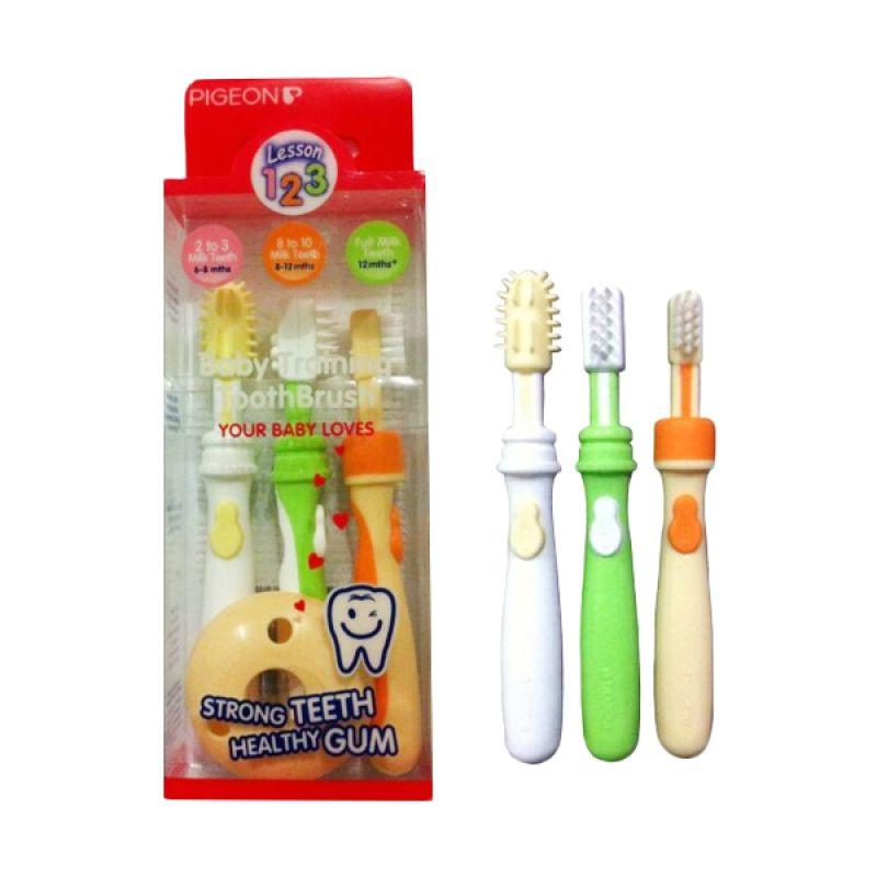 3 Sikat Gigi Bayi Pr050507 Biru Source · Pigeon Training Toothbrush L 2 . 9aa59d9e0f
