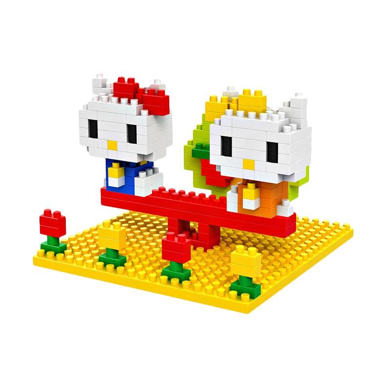 Loz Diamond Block 9405 Hello Kitty Fountain Mainan Blok & Puzzle