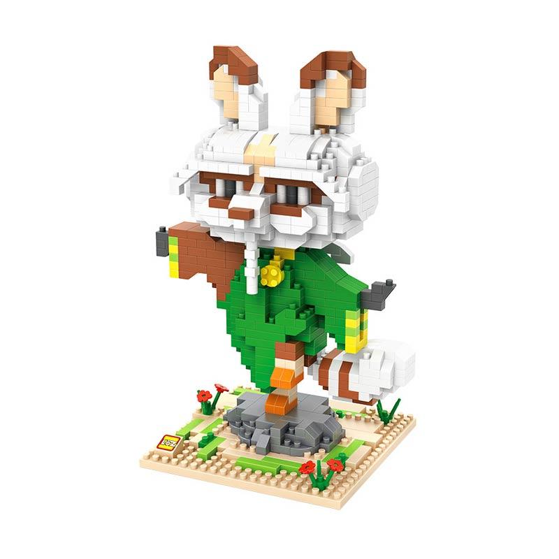LOZ Gift XXL 9711 Shifu Kungfu Panda Mainan Blok and Puzzle
