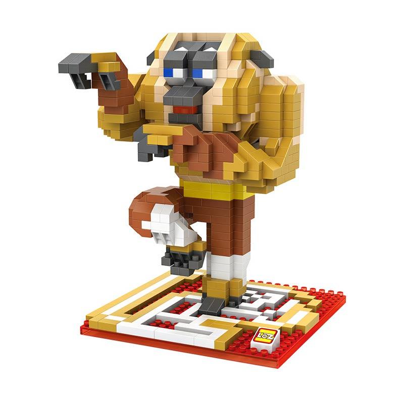 Loz Gift XXL 9714 Monkey Kungfu Panda Mainan Blok and Puzzle