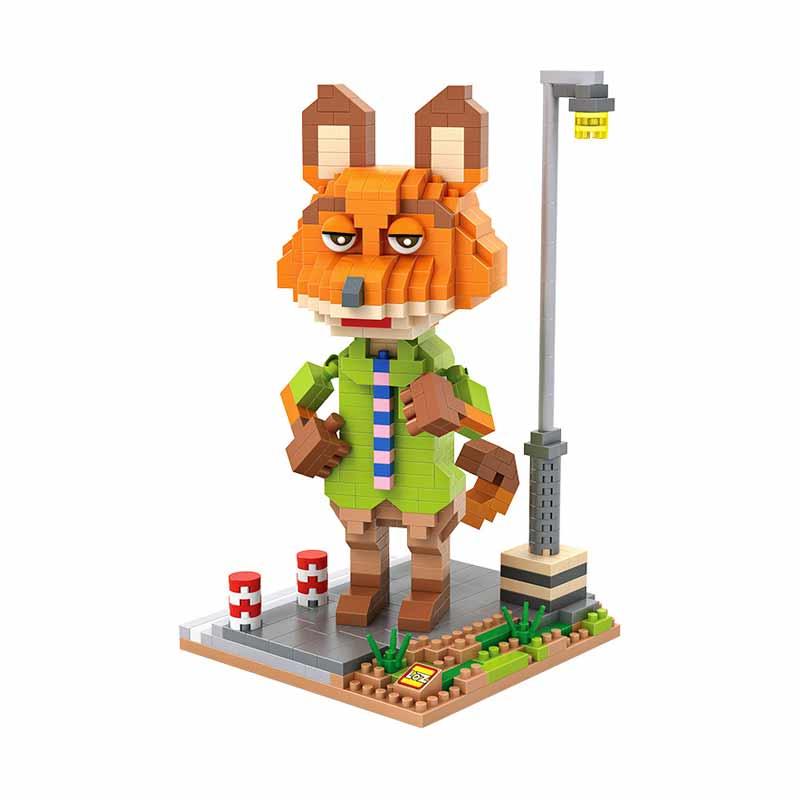 Loz Gift XXL 9723 Nick Wilde Zootopia Mainan Block & Puzzle