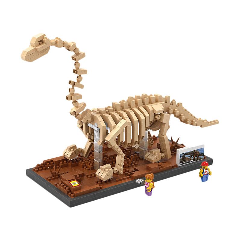 Loz 9028 Brachiosaurus Mainan Blok & Puzzle