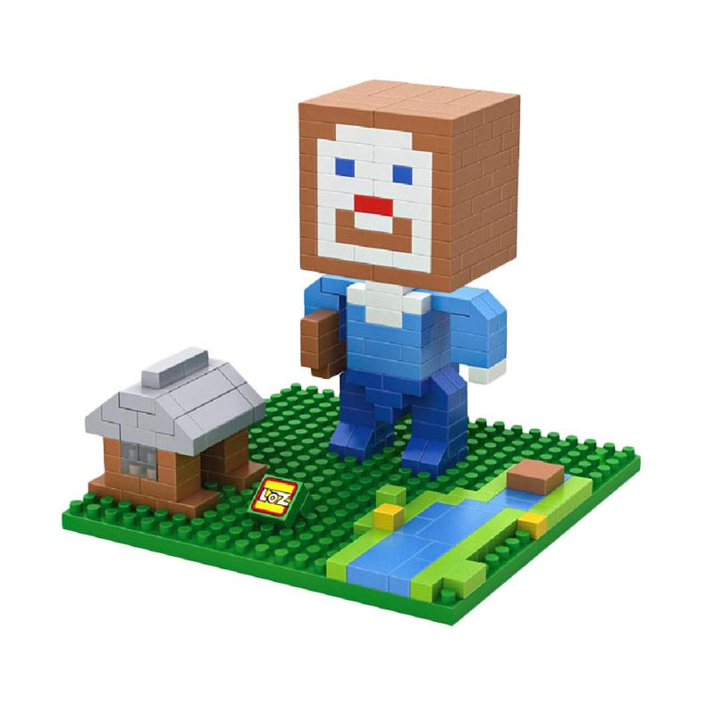 Loz 9468 Minecraft Steve House Mainan blok dan Puzzle