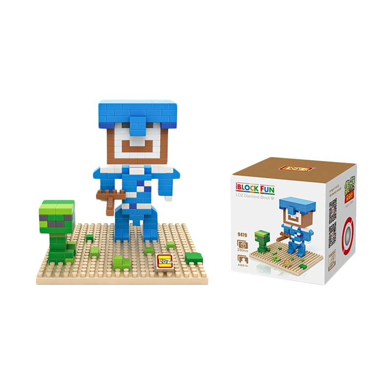 Loz 9470 Minecraft Steve Armor Mainan BloK dan Puzzle