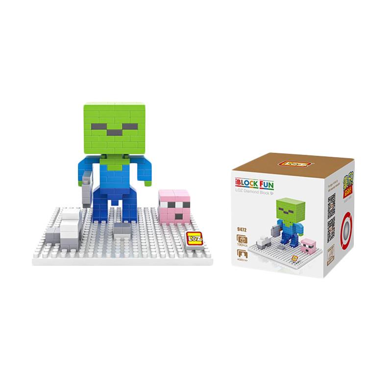 Loz 9472 Minecraft Zombie Mainan Blok dan Puzzle