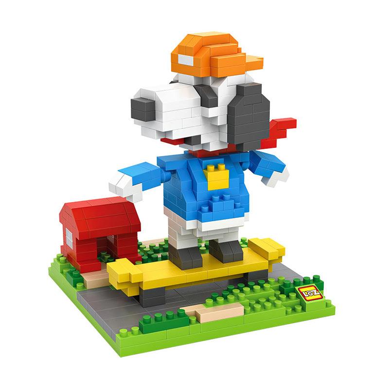 Loz 9524 Sktaeboarding Snoopy Blok Mainan Anak