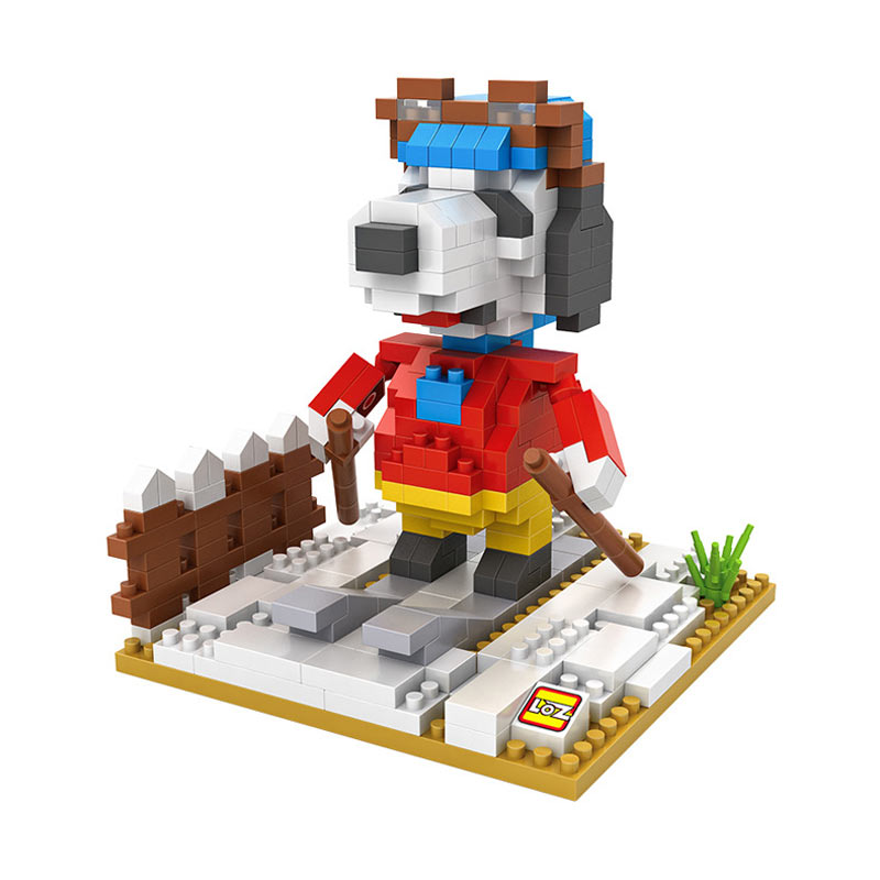 Loz 9525 Skiing Snoopy Blok Mainan Anak