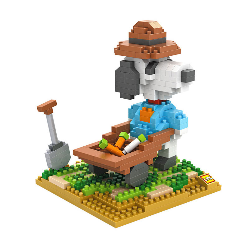 Loz 9526 Farming Snoopy Blok Mainan Anak