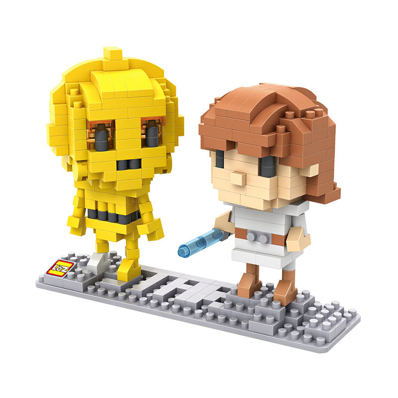 Loz 9532 C3PO N Luke Skywalker Mainan Blok and Puzzle