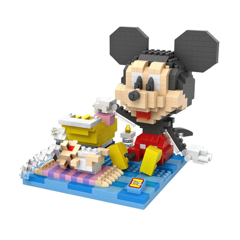 Loz 9634 Mickey Baby Sitting Mainan Block & Puzzle