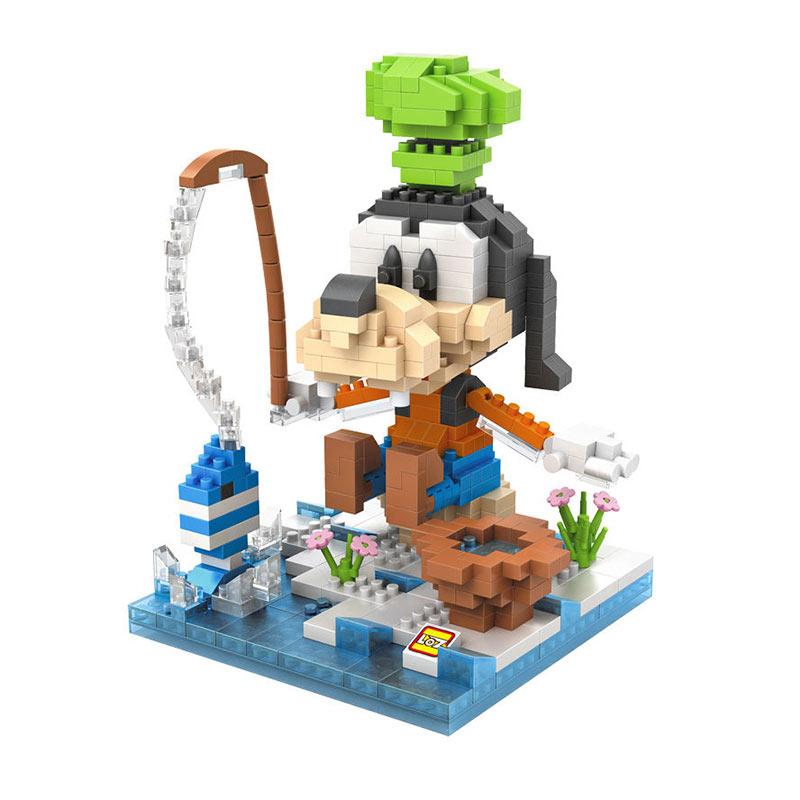 Loz 9639 Goofy Fishing Mainan Blok dan Puzzle
