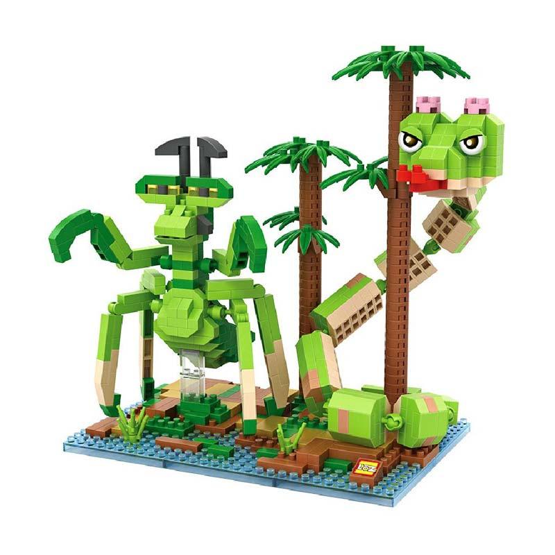 Loz 9716 Viper and Mantis Kungfu Panda Mainan Block & Puzzle