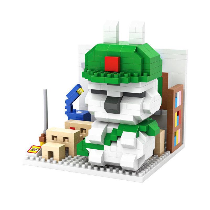 Loz Block 9845 Student Mashimaro Mainan Blok & Puzzle - Green