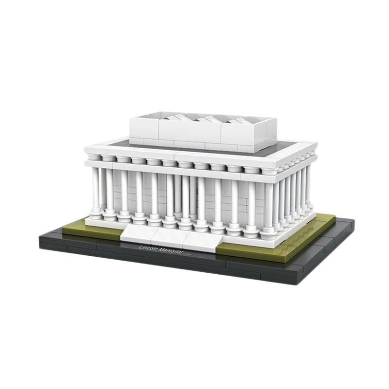LOZ Mini Block 1007 Architecture Lincoln Memorial Mainan Blok & Puzzle