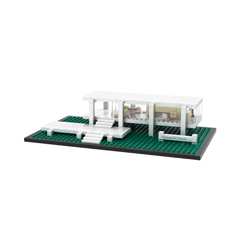 LOZ Blocks 1012 Farnsworth House Mainan Blok & Puzzle