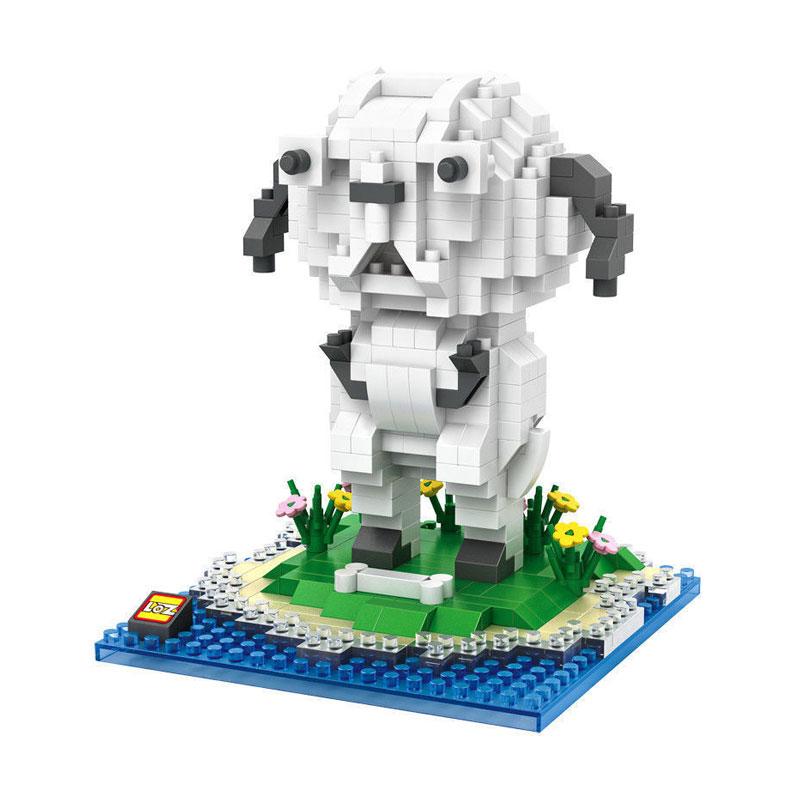 Loz Blocks 9849 Noonoo Mashimaro Mainan Mini Blocks - Putih Hitam