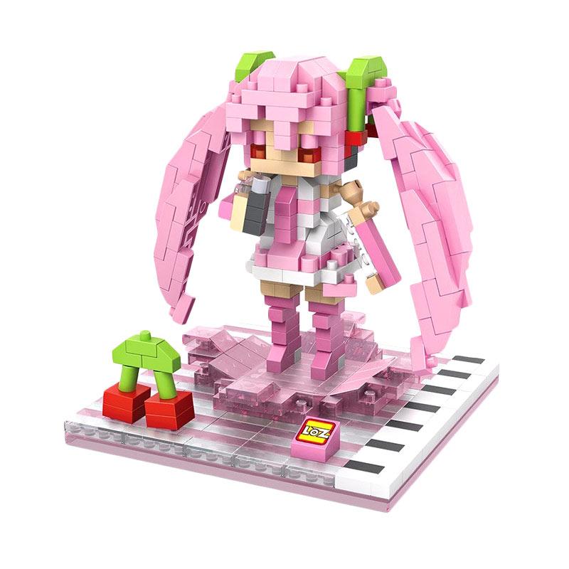 Loz Gift L 9534 Sakura Hatsune Miku Mainan Blok & Puzzle