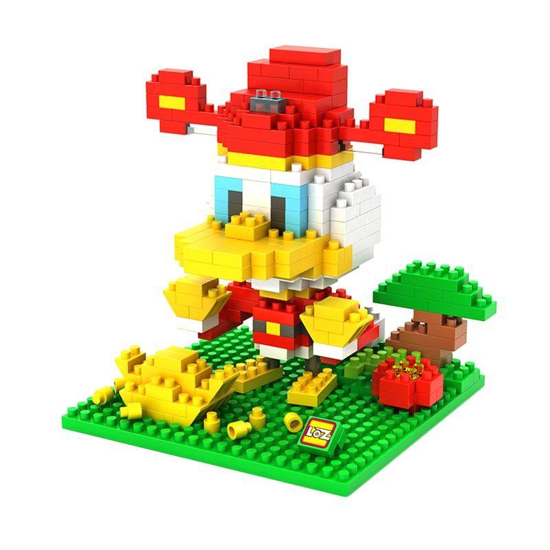 Loz Gift Large 9437 Donald Chinese Costume Mainan Blok dan Puzzle