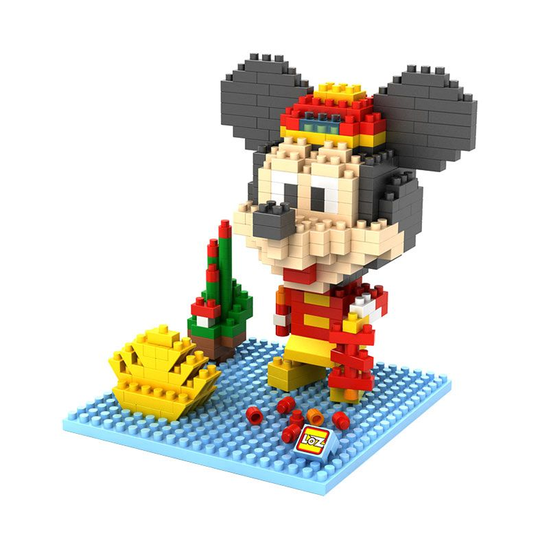 Loz Gift Large 9439 Mickey Chinese Costume Mainan Blok dan Puzzle