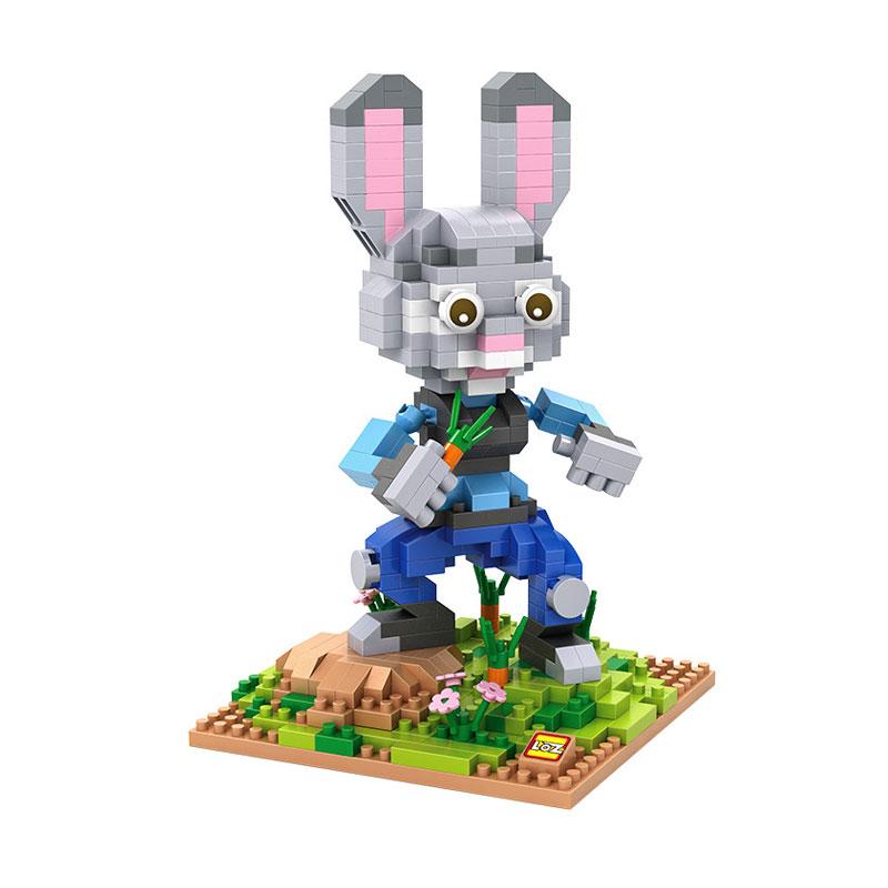Loz Gift XXL 9722 Lt Judy Hopps Zootopia Mainan Block & Puzzle