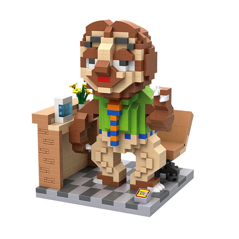 Loz Gift XXL 9724 Flash Slothmore Zootopia Mainan Blok & Puzzle