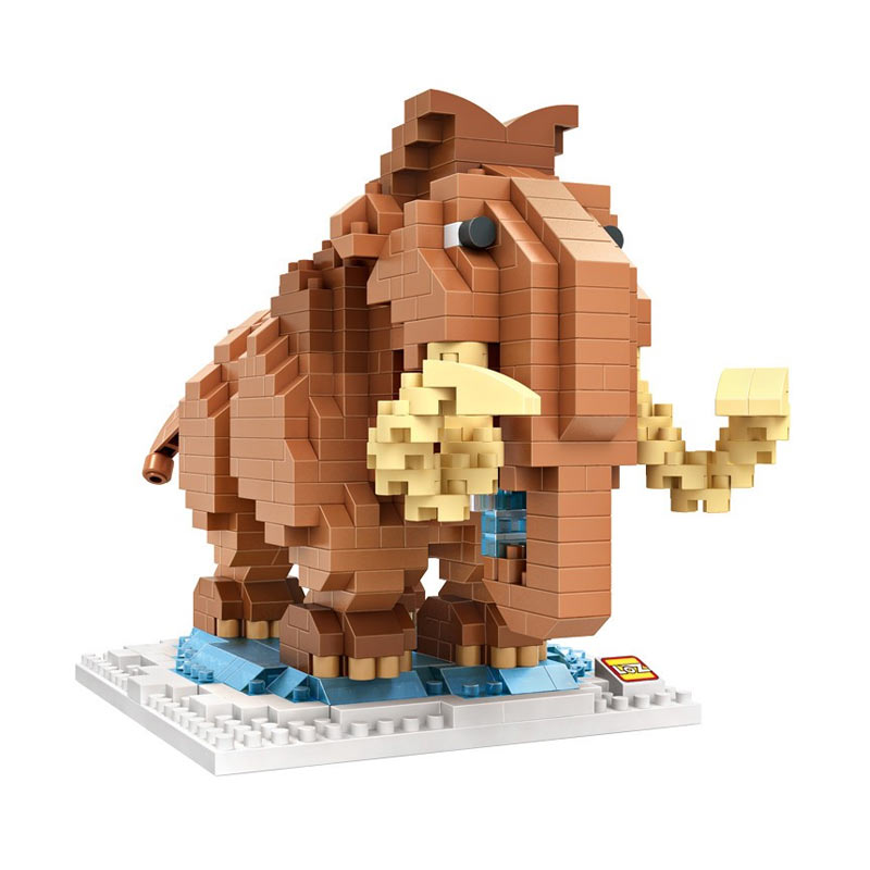 Loz Gift XXL 9731 Manny Ice Age Mainan Blok & Puzzle