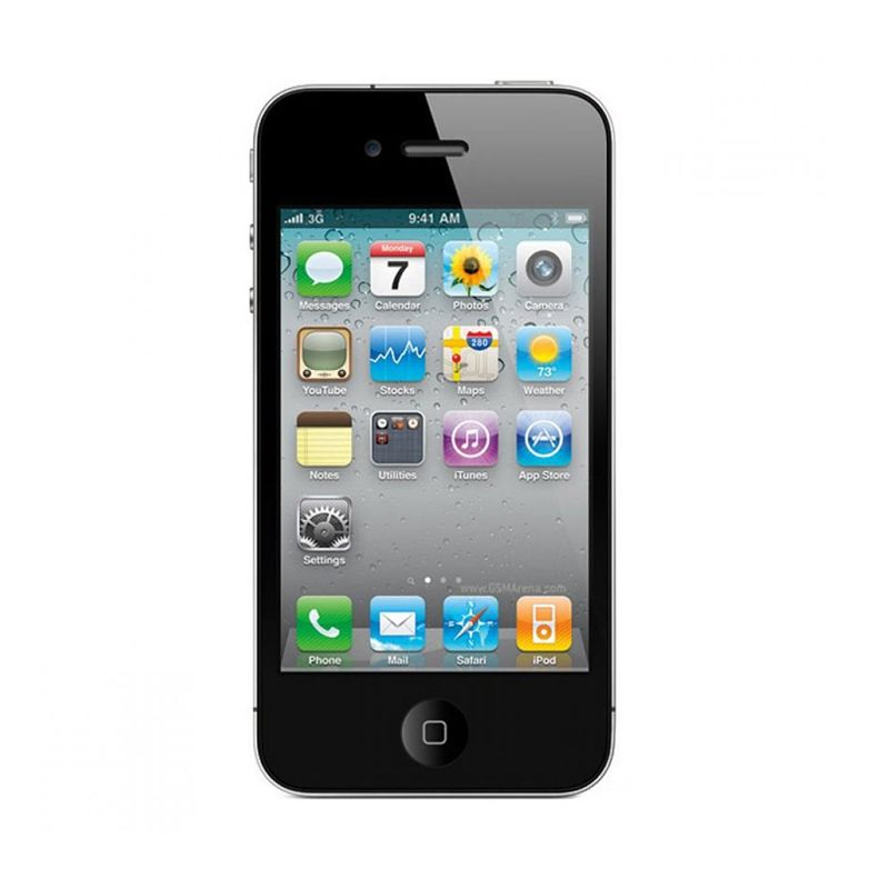 Apple Iphone 4S (Refurbish) 64 GB Black Smartphone [Garansi Distributor]