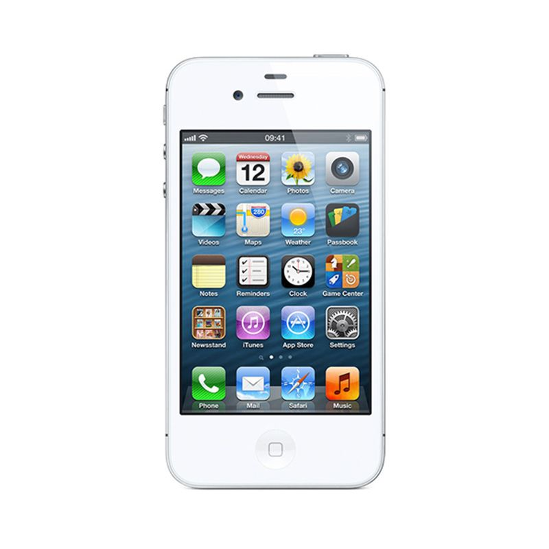 Diskon Apple Iphone 4S (Refurbish) 64 GB White Smartphone [Garansi Distributor]