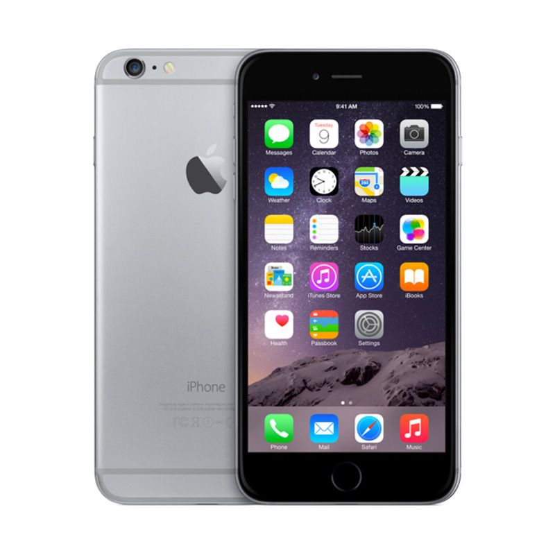 Diskon Apple iPhone 6 64 GB Grey Smartphone(Refurbished Garansi Distributor)