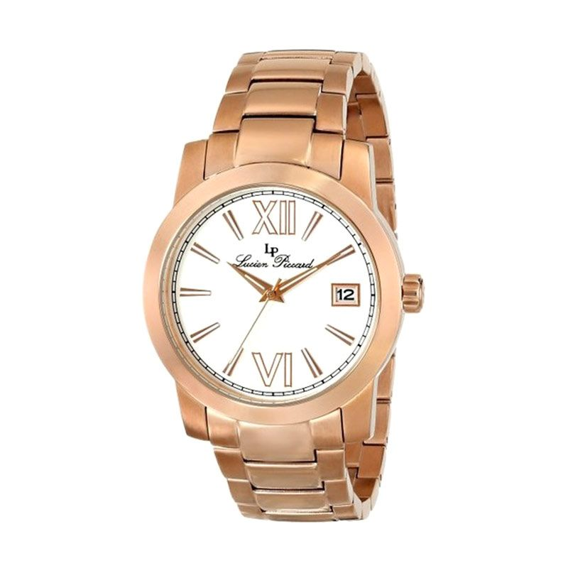 Lucien Piccard LP10026-RG-22 Bordeaux Analog Display Japanese Quartz Rose Gold Jam Tangan Pria