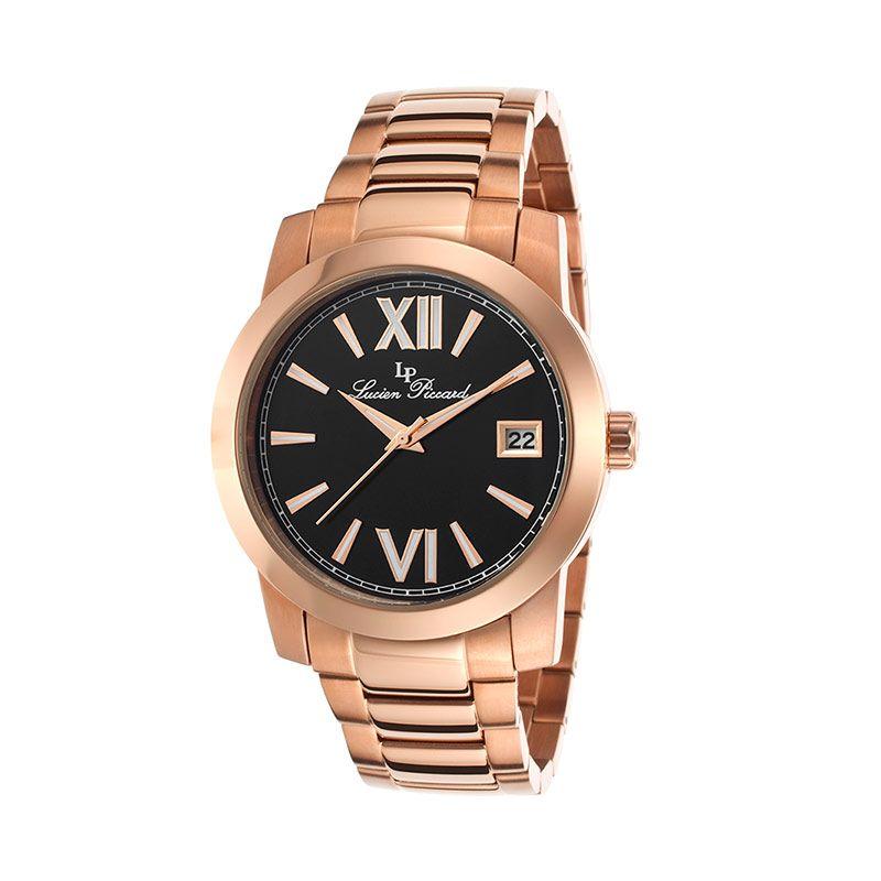 Lucien Piccard LP10026RG11 Bordeaux Black Watch Rose Gold Jam tangan wanita