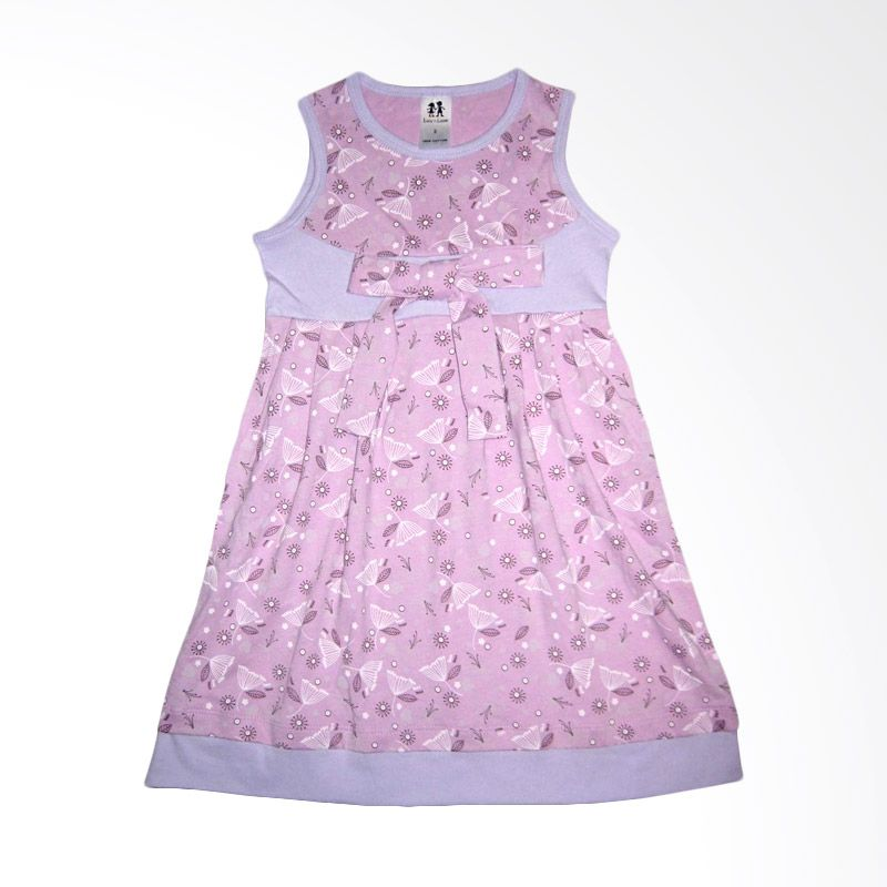 Lucy N Lucas Ribbon Purple Dress Anak