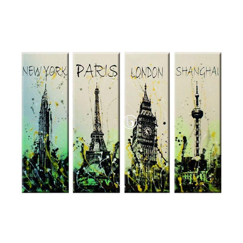 Lukisanku City Style 4 Lukisan Minimalis