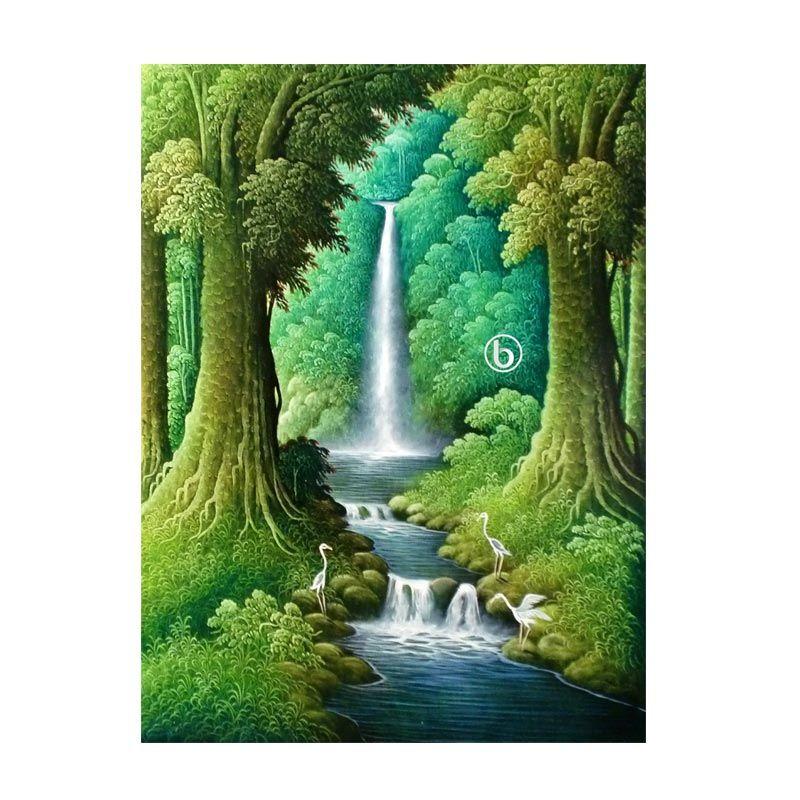 Lukisanku Air Terjun BL-R017 Lukisan Pemandangan