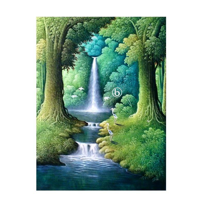 Lukisanku Air Terjun BL-R018 Lukisan Pemandangan