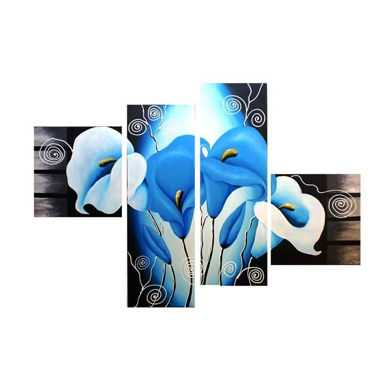 Lukisanku B41-C Blue Lukisan Bunga