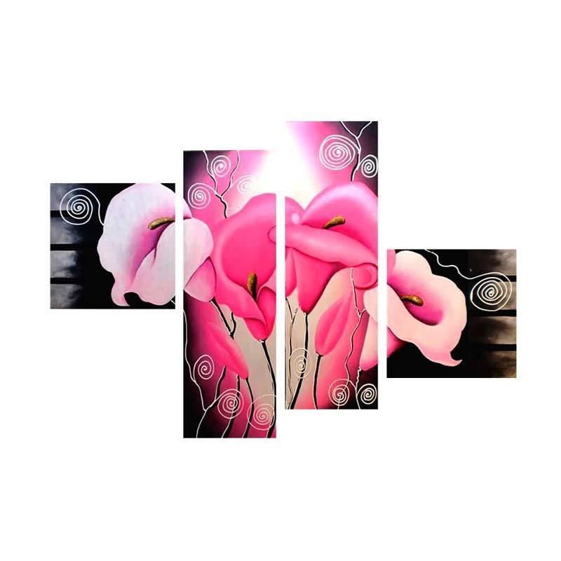 Lukisanku B41-C Pink Lukisan Bunga