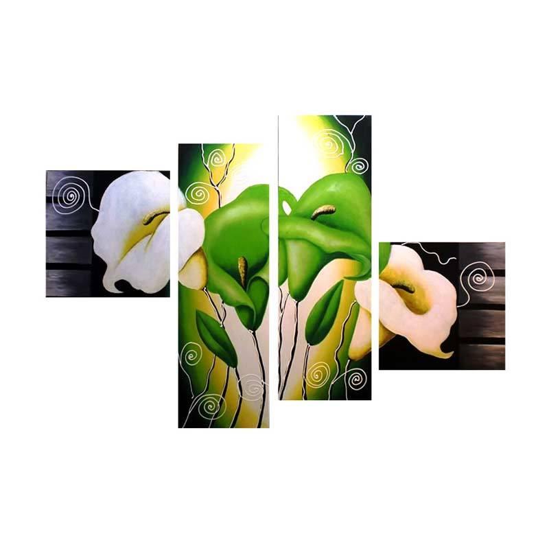 Lukisanku B41-C Green Lukisan Bunga