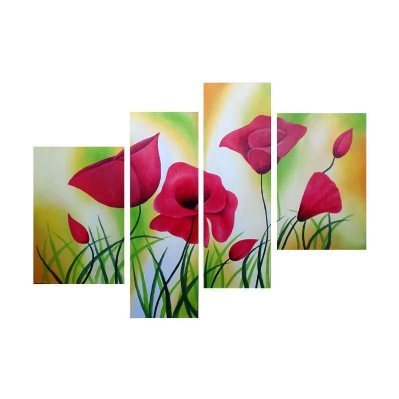 Lukisanku DK41-1 Lukisan Bunga