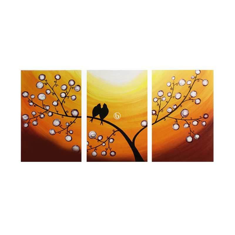 Lukisanku Dua Burung YT31-KL Lukisan Modern