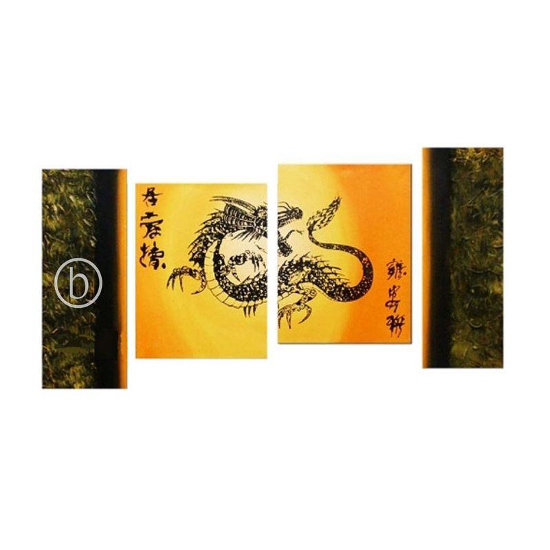 Lukisanku Gold Dragon Lukisan Minimalis