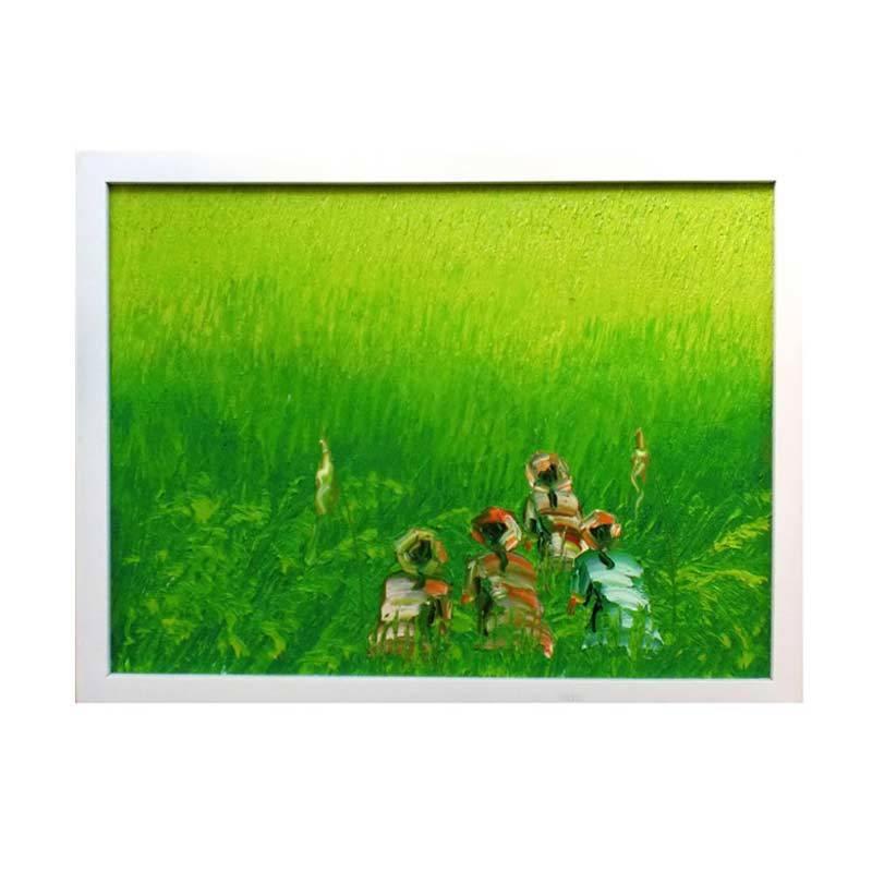 Lukisanku Green Lukisan Panen