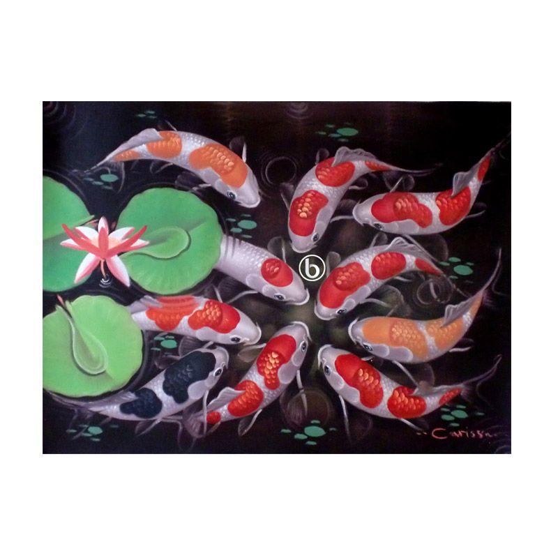 Lukisanku Ikan Koi BL-R009 Lukisan Modern